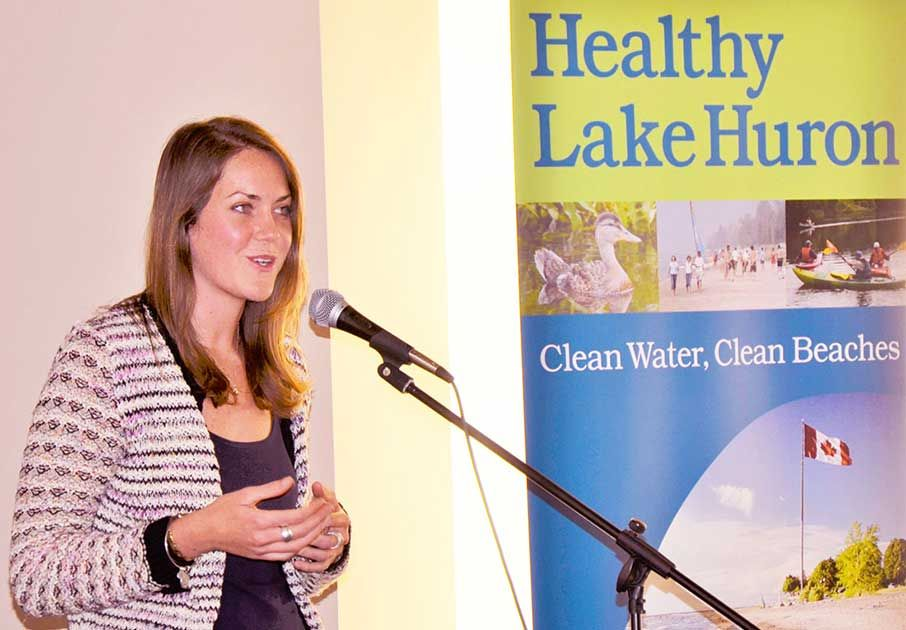 Jen Pate, of Bayfield, says we need to work together to protect Lake Huron