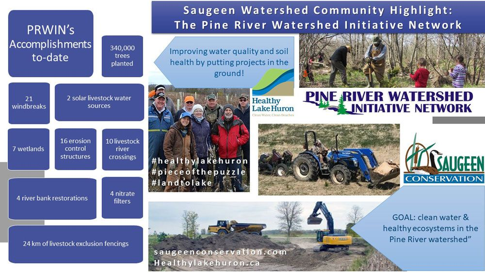 Great job, Pine River Watershed network!